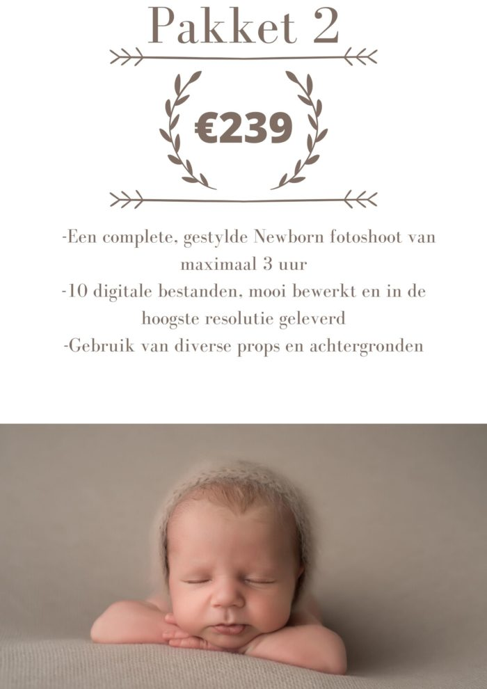 newbornshoot prijs pakket 2