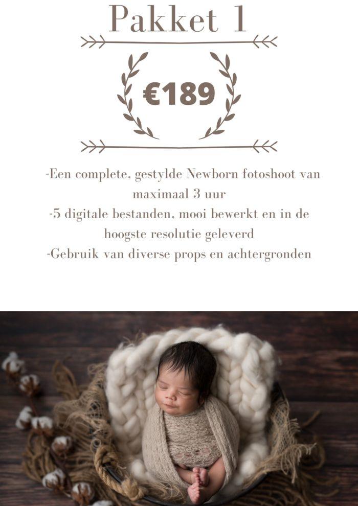 newborn shoot studio prijs