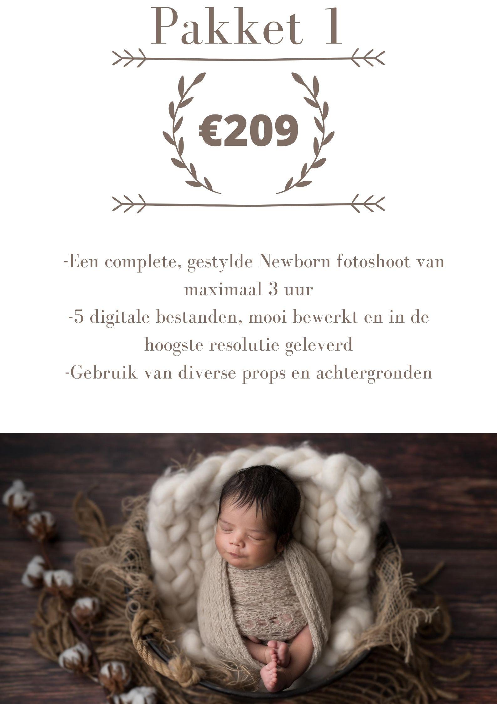 prijslijst newbornshoot arnhem