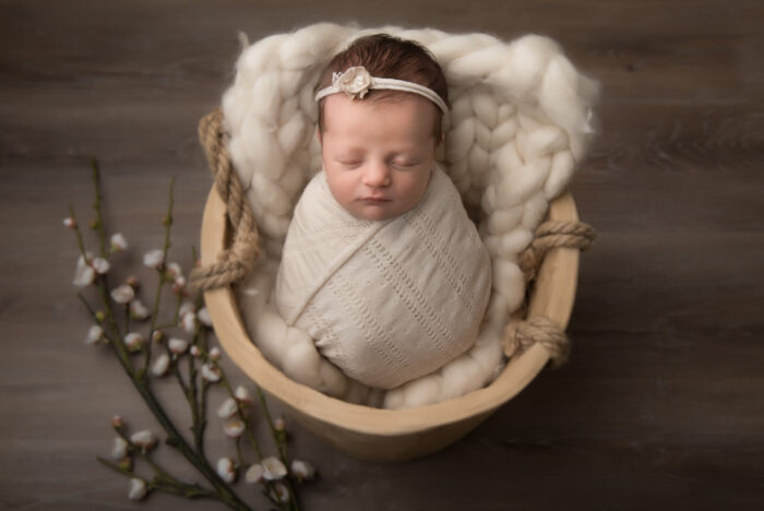 newbornshoot geposeerd