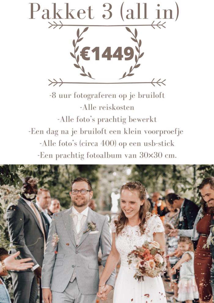 prijslijst trouwfotograaf nijmegen
