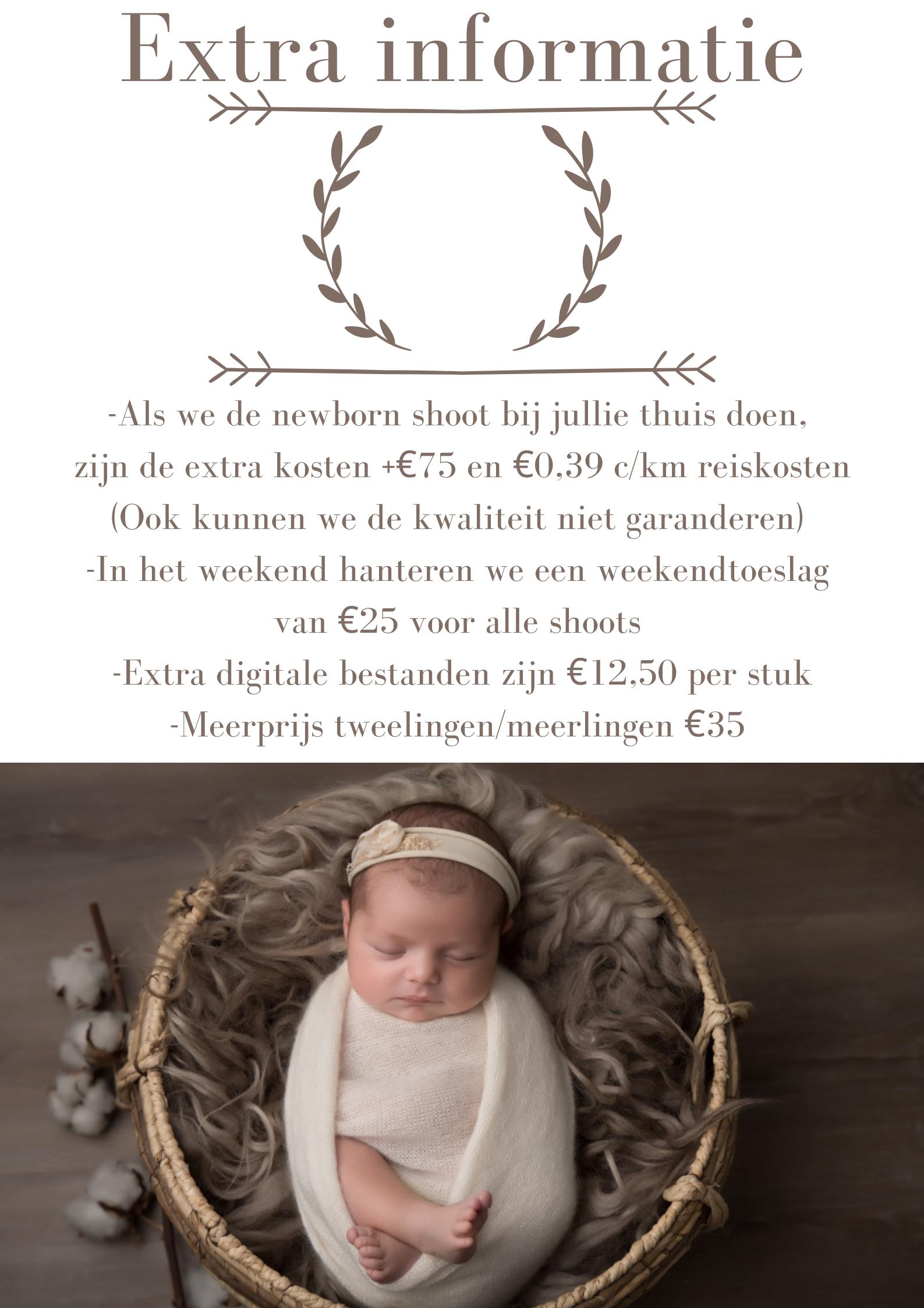 prijslijst newborn shoot